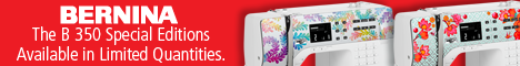 BERNINA 350 SE banner ad for Gen Q