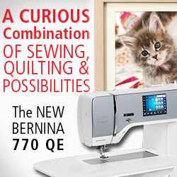 BERNINA 770 QE ad for Gen Q