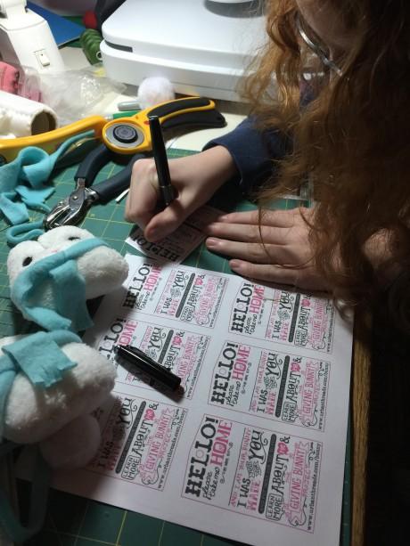 Giving Bunny tags