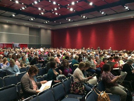 International Quilt Market: The opening session at SchoolHouse in Houston in October 2014. The opening focused on the new Quilting in America Survey that was released that year.