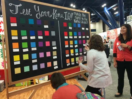 Robert Kaufman Fabrics celebrated 30 years of Kona Solids at International Quilt Market in Houston 2015.